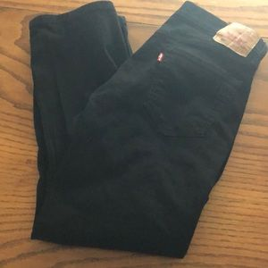 Men's black Levi jeans